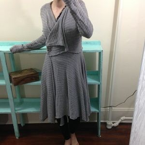 Long speckled cardigan